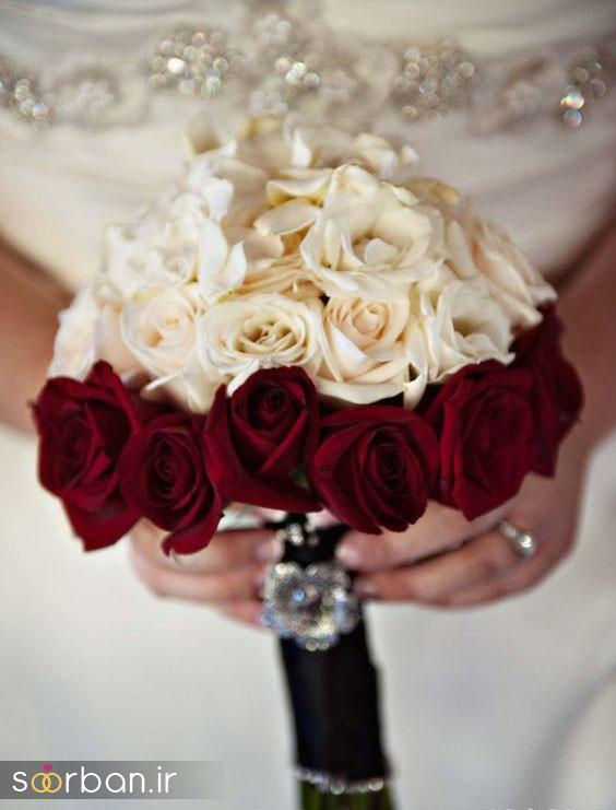 دسته گل عروس رز سفید10