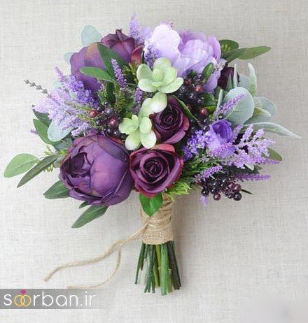 دسته گل عروس مصنوعی فوق العاده زیبا و جدید-1