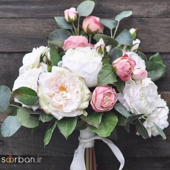 دسته گل عروس مصنوعی فوق العاده زیبا و جدید-2