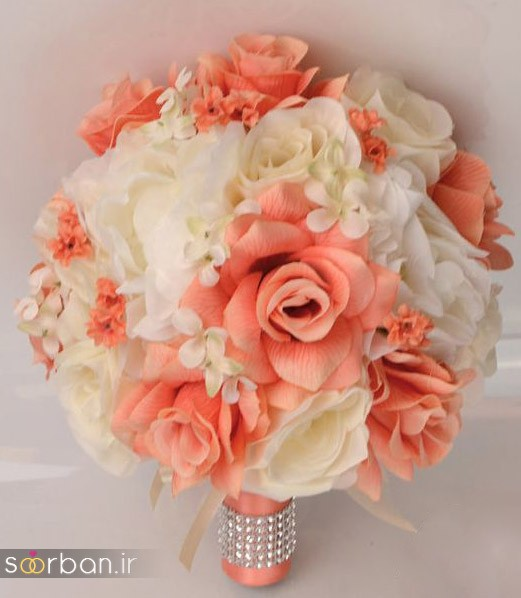 دسته گل عروس مصنوعی فوق العاده زیبا و جدید-3