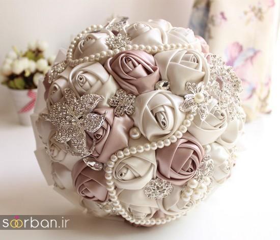 دسته گل عروس مصنوعی فوق العاده زیبا و جدید-6