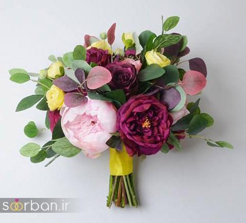دسته گل عروس مصنوعی فوق العاده زیبا و جدید-07