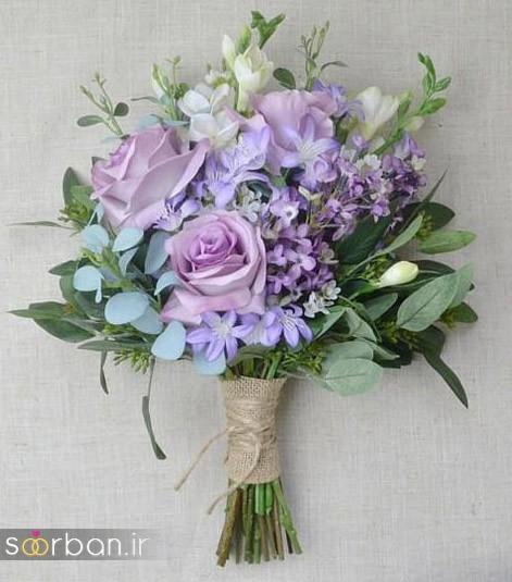 دسته گل عروس مصنوعی فوق العاده زیبا و جدید-8