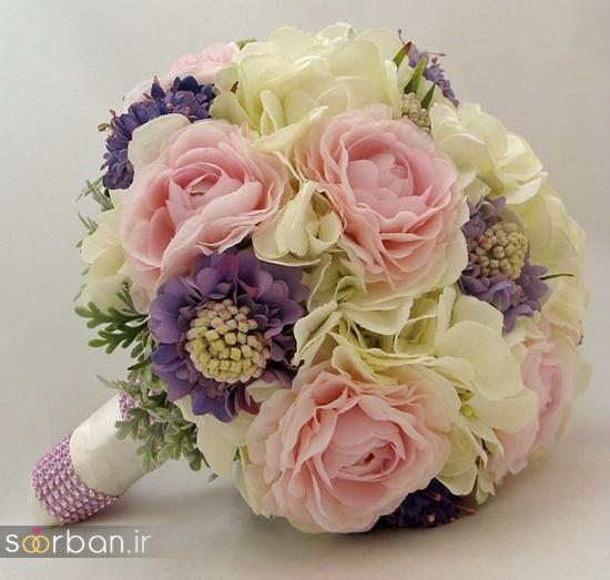 دسته گل عروس مصنوعی فوق العاده زیبا و جدید-9