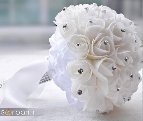 دسته گل عروس مصنوعی فوق العاده زیبا و جدید-10