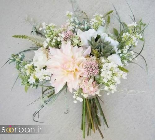 دسته گل عروس مصنوعی فوق العاده زیبا و جدید-11