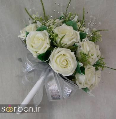 دسته گل عروس مصنوعی فوق العاده زیبا و جدید-12