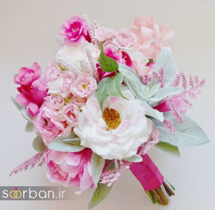 دسته گل عروس مصنوعی فوق العاده زیبا و جدید-13