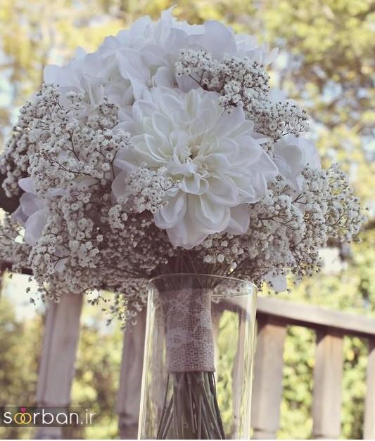 دسته گل عروس مصنوعی فوق العاده زیبا و جدید-15