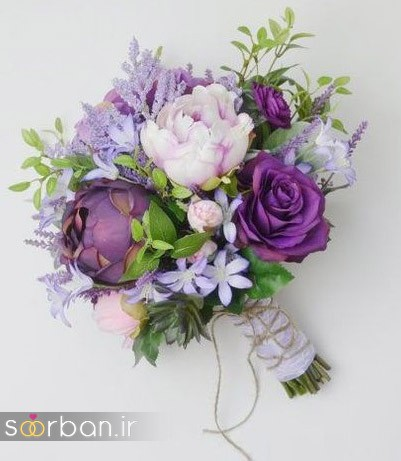 دسته گل عروس مصنوعی فوق العاده زیبا و جدید-16
