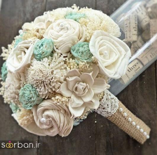 دسته گل عروس مصنوعی فوق العاده زیبا و جدید-17