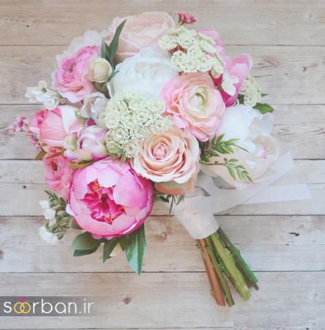 دسته گل عروس مصنوعی فوق العاده زیبا و جدید-18