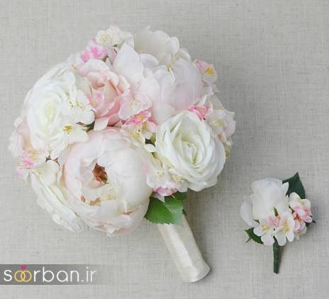 دسته گل عروس مصنوعی فوق العاده زیبا و جدید-19