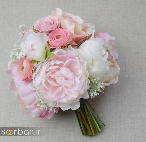 دسته گل عروس مصنوعی فوق العاده زیبا و جدید-20