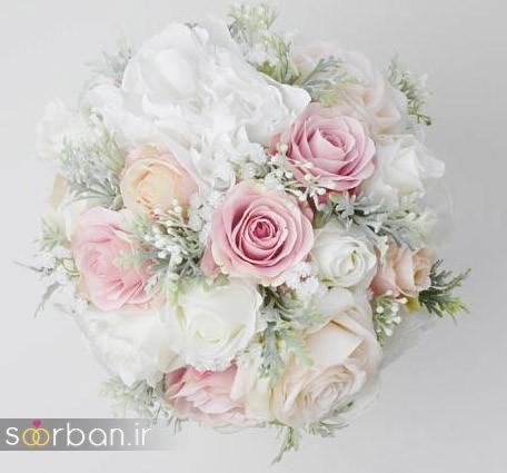 دسته گل عروس مصنوعی فوق العاده زیبا و جدید-21