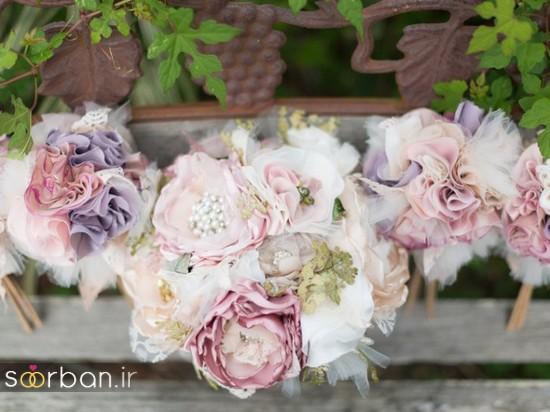دسته گل عروس مصنوعی فوق العاده زیبا و جدید-22