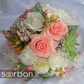 دسته گل عروس مصنوعی فوق العاده زیبا و جدید-23