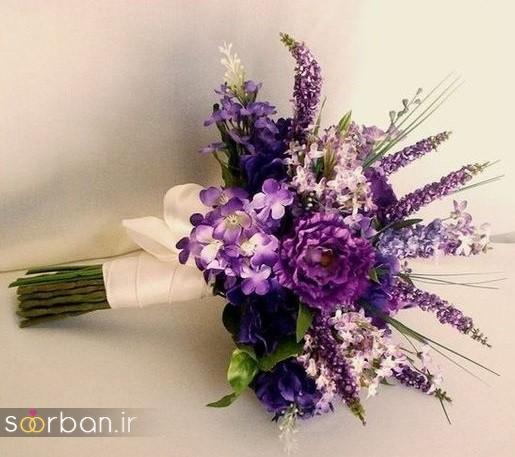 دسته گل عروس مصنوعی فوق العاده زیبا و جدید-24
