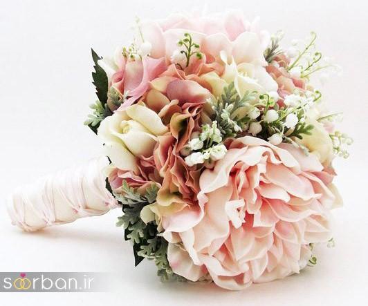 دسته گل عروس مصنوعی فوق العاده زیبا و جدید-25