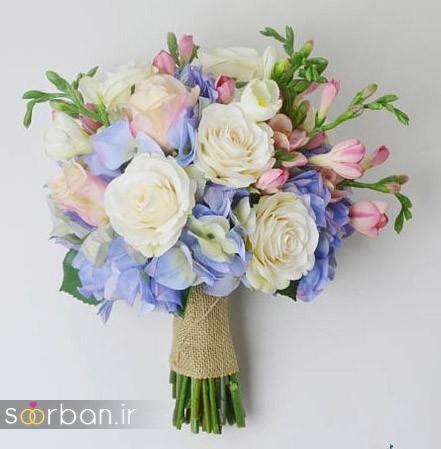 دسته گل عروس مصنوعی فوق العاده زیبا و جدید-26
