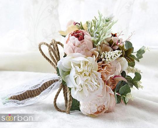 دسته گل عروس مصنوعی فوق العاده زیبا و جدید-27