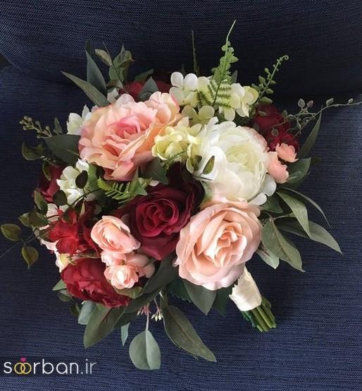 دسته گل عروس مصنوعی فوق العاده زیبا و جدید-28