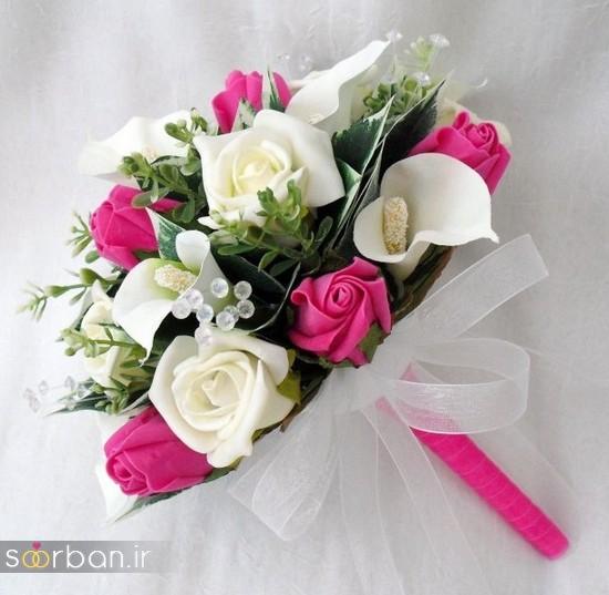 دسته گل عروس مصنوعی فوق العاده زیبا و جدید-29