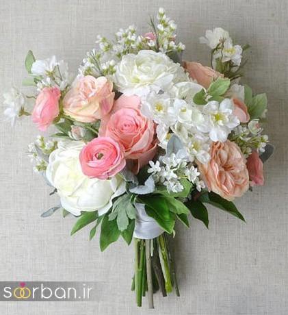 دسته گل عروس مصنوعی فوق العاده زیبا و جدید-30