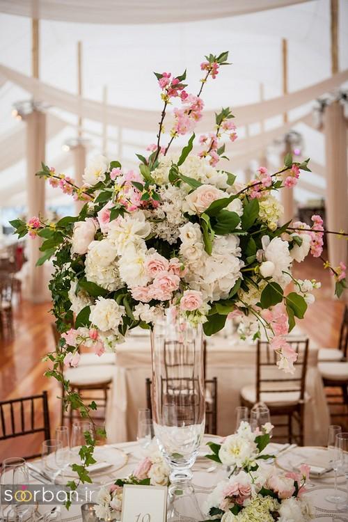 تزیین و دکوراسیون میز تالار عروسی 2017 , مدل تزیین و گل آرایی جدید میز تالار عروسی