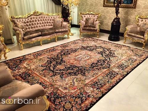 انواع طرحهای فرش دستباف تبریز جهیزیه -11
