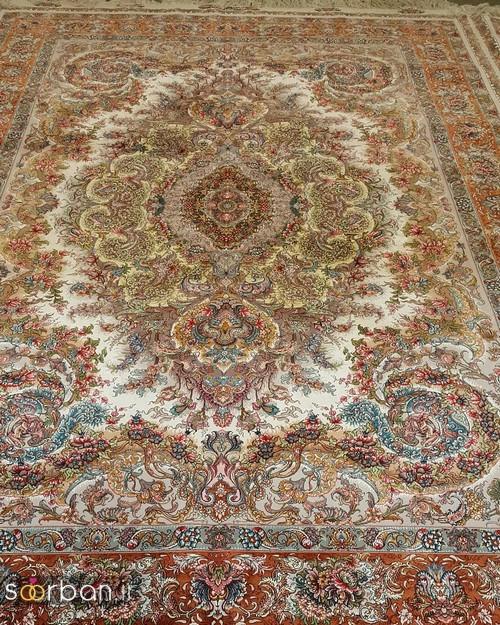 انواع طرحهای فرش دستباف تبریز جهیزیه -17