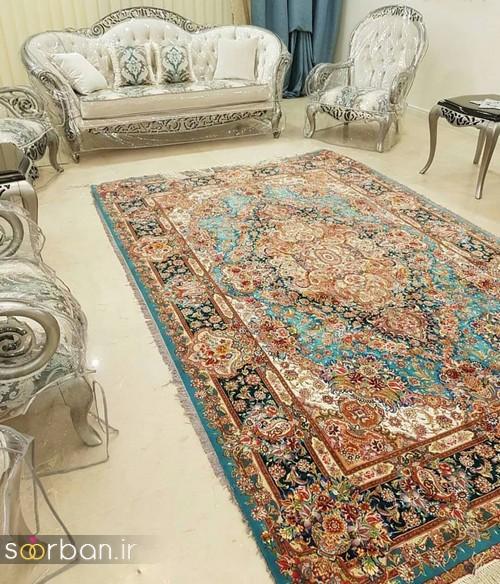 انواع طرحهای فرش دستباف تبریز جهیزیه -21