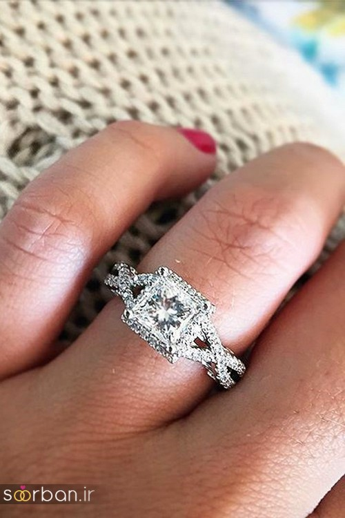زیباترین حلقه های نامزدی و ازدواج 2018-15