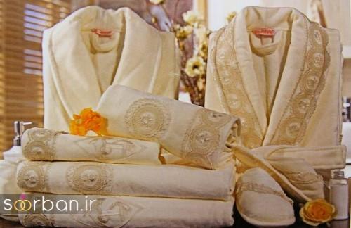 مدل های ست حوله عروس و داماد جدید