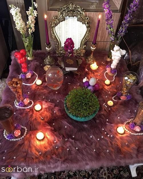 تزیین سفره هفت سین عروس ایرانی-19