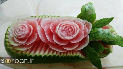 تزیین هندوانه شب یلدا-1
