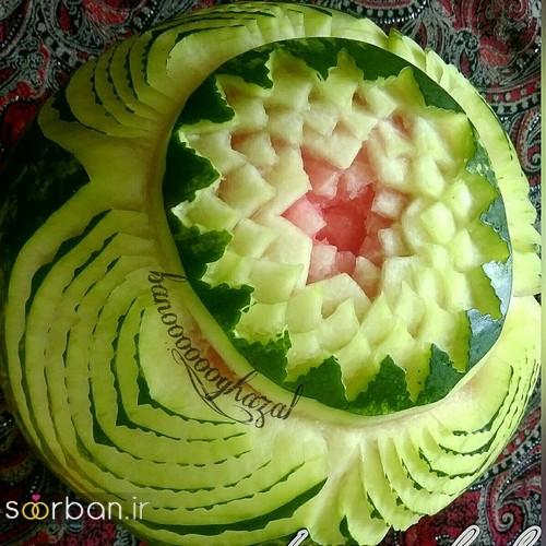 تزیین هندوانه شب یلدا-4