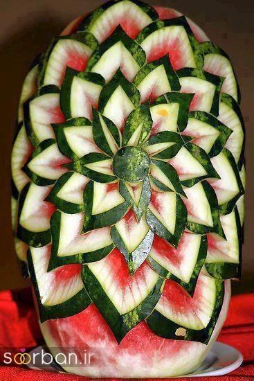 تزیین هندوانه شب یلدا-13