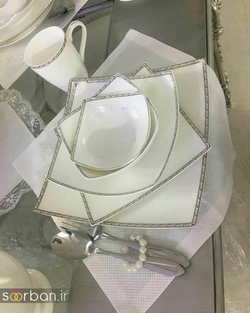 تزیین و چیدمان مدرن جهیزیه عروس با رنگ سفید-5