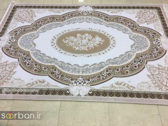 جدیدترین مدل های فرش ترک جهیزیه عروس -2