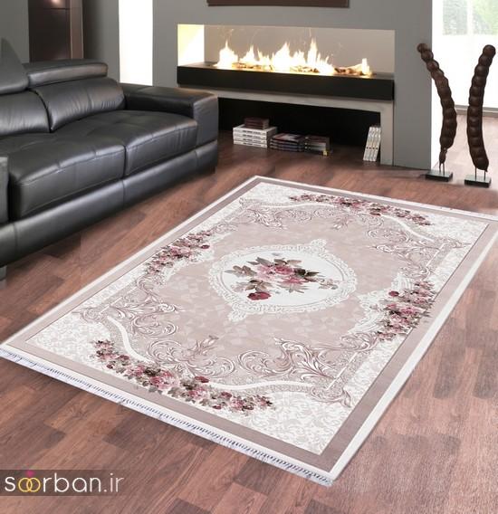 جدیدترین مدل های فرش ترک جهیزیه عروس -17