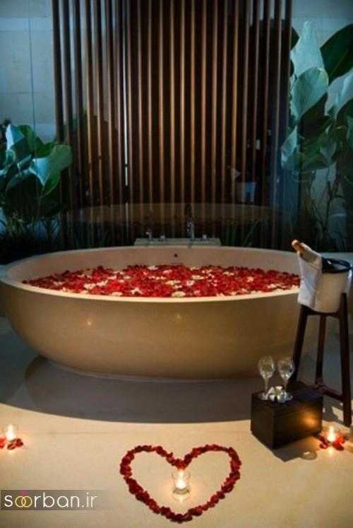 تزیین رمانتیک حمام عروس-4