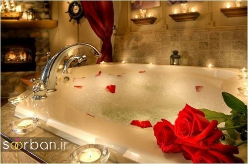 تزیین رمانتیک حمام عروس-12