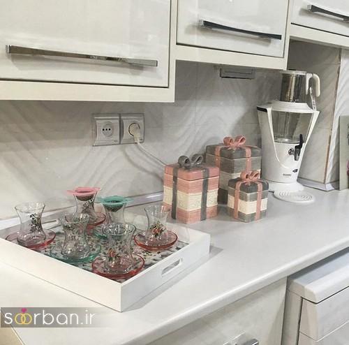 تزیین و چیدمان وسایل آشپزخانه جهیزیه عروس