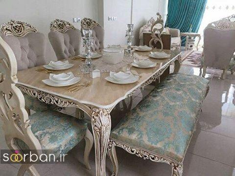 جهیزیه عروس شیک 96 - دیزاین میز ناهارخوری خانه عروس