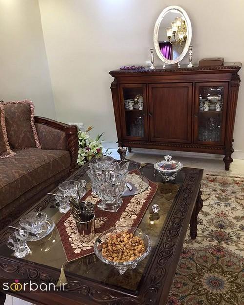 دیزاین جهیزیه عروس - تزیین میز پذیرایی عروس
