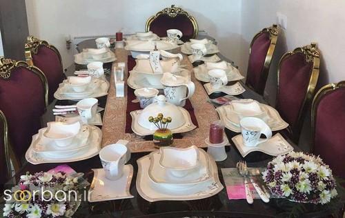 تزیین و چیدمان میز ناهار خوری جهیزیه عروس 1