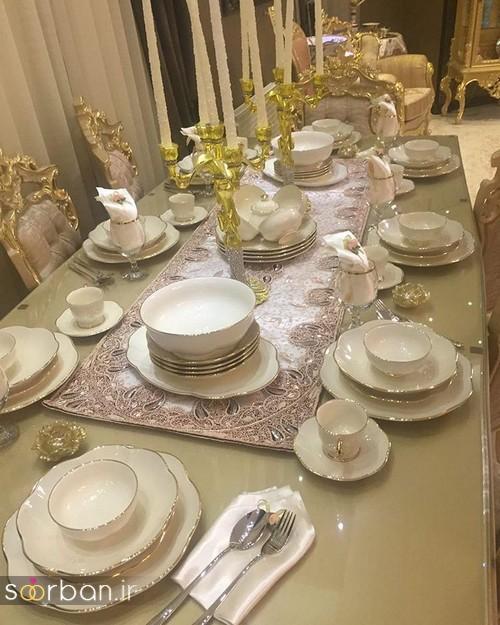 تزیین و چیدمان میز ناهار خوری جهیزیه عروس 6