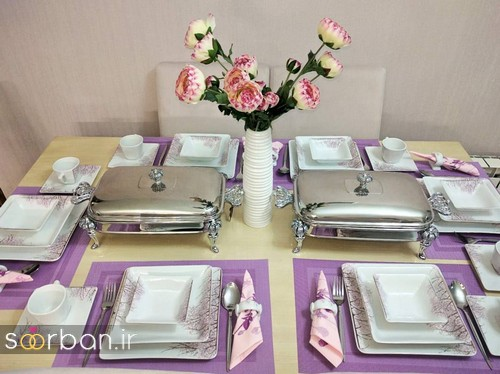 تزیین و چیدمان میز ناهار خوری جهیزیه عروس 9