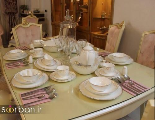 تزیین و چیدمان میز ناهار خوری جهیزیه عروس 13